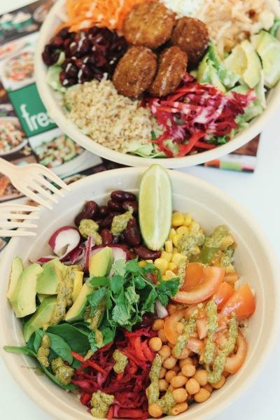 Market Salad and Oaxaca Bowl